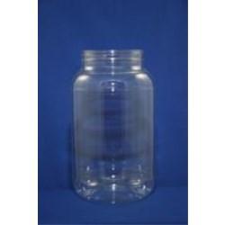 3950 cc PET Jar, Round, 110-400, Label Indent ,