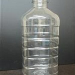 1 ltr PET Straight Sided, Oblong, 38-400, Ribbed/Fluted ,