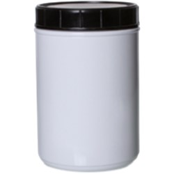 76 oz HDPE Wipes Canister, Round, 120mm Snap On, ,