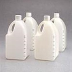4 ltr HDPE Handleware, Square, 38-430, Sterile Graduated ,