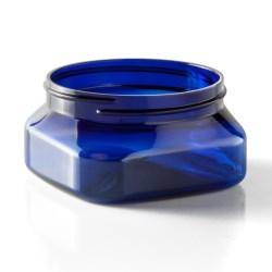 4 oz PET Jar, Square, 70-400, ,