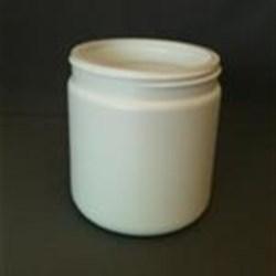 500 ml HDPE Jar, Round, 89-400, Straight Sided