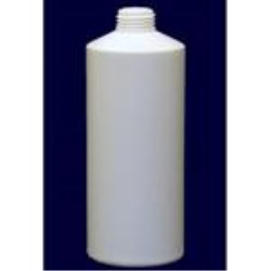 2 oz HDPE Cylinder, Round, 8-400, Flat Shoulder Straight Sided ,