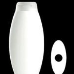 400 ml HDPE Convex Oval, 22mm Snap On, ,