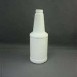8 oz HDPE Long Neck, Round, 24-400, Label Indent