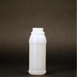 8 oz HDPE Cylinder Round, 38mm, Label Indent