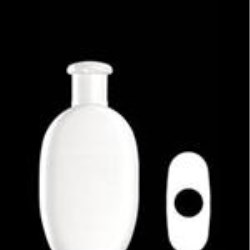 200 ml HDPE Convex Oval, 24mm Snap On, ,