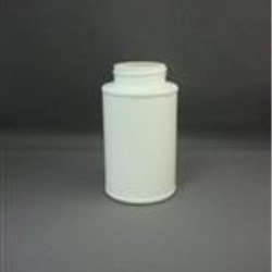 8 oz HDPE Cylinder, Round, 45-400, Label Indent ,