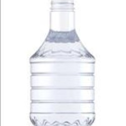 32 oz PET Carafe/Decanter, Round, 38-400, Ribbed/Fluted Label Indent