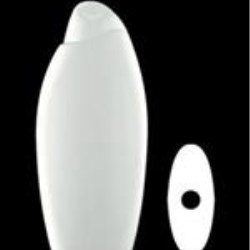 500 ml HDPE Asymmetrical Oval, 21mm Snap On, ,