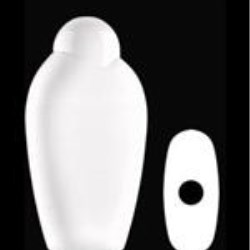 400 ml HDPE Asymmetrical Oval, 23mm Snap On, ,