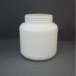 1000 cc HDPE Jar, Round, 89-400, Straight Sided