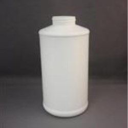 32 oz HDPE Cylinder, Round, 45-400, Label Indent ,