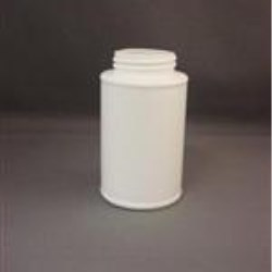 8 oz HDPE Cylinder, Round, 1.75mm, Label Indent ,