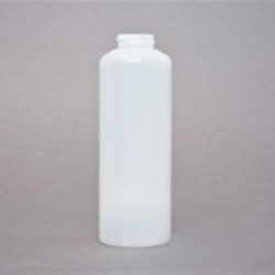 140 ml HDPE Cylinder, Round, 28Crimp, Round Shoulder