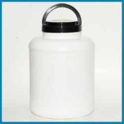 2 gal HDPE Jar, Round, 120-400, Short Label Indent