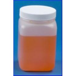 32 oz HDPE Jar, Square, 89-400, ,