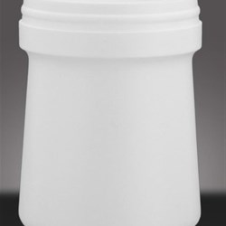 1.5 ltr HDPE Wipes Canister Round, 128mm Snap On, Tapered