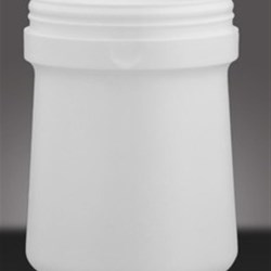 1.5 ltr HDPE Wipes Canister Round, 124mm Snap On, Tapered