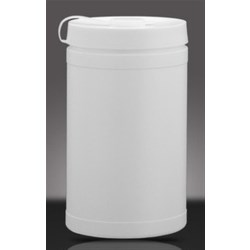 1 ltr HDPE Wipes Canister Round, 90mm Snap On ,