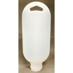 1.5 oz HDPE LR7320-01 (alt 5502 BN) Tottle/Tube Bottle, Oval, 24-410, Electro Treat