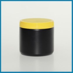 16 oz HDPE Jar, Round, 89-400, Straight Sided ,