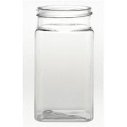 8 oz PET Jar Square, 53mm, ,