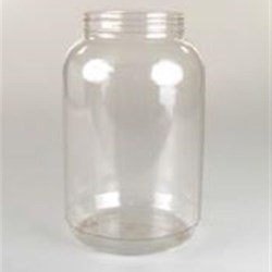 1 gal PVC Jar, Round, 100-400, ,