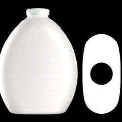 400 ml HDPE Convex Oval, Special Snap, ,
