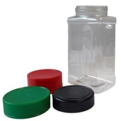 22 oz PET Jar Oblong, 63-485, Label Indent Grip