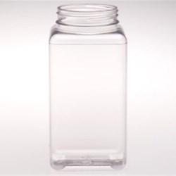 28 oz PET Jar, Square, 63-400,