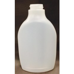 16 oz HDPE Straight Sided, Oblong, 33-400, ,