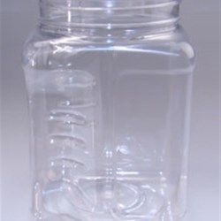 64 oz PET Jar, Square, 110-400, ,