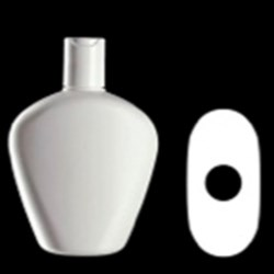 300 ml HDPE Reverse Tapered, Oval, 24-410, ,