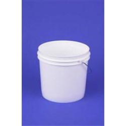 2 gal HDPE Paint Can, Round, ,Nestable With METAL HANDLE