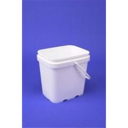 2 gal P/P Ez Stor, Rectangular, 1651,Clarified P/P with Plastic Handle