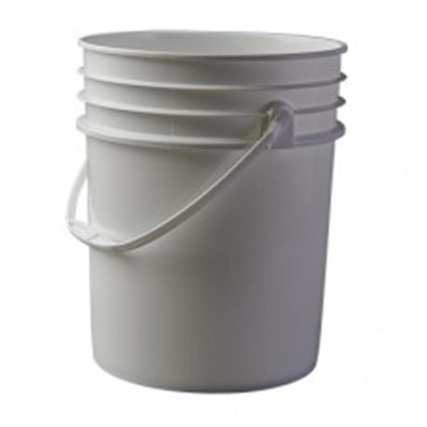 5 gal HDPE Pail, Round, ,Child Warning Label With Handle