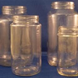 14 oz Glass Jar, Round, Flint, 63-2030