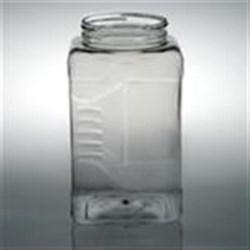 128 oz PET Jar, Square, 110-400, Grip Label Indent