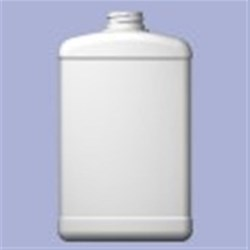 32 oz HDPE Straight Sided, Oblong, 33-400, Label Indent ,