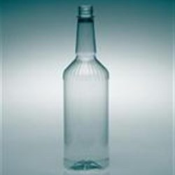 1 ltr PET Long Neck, Round, 28-410, Fluted ,
