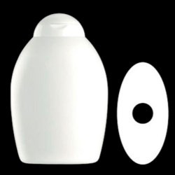 400 ml HDPE Convex, Oval, 21mm Snap On, ,