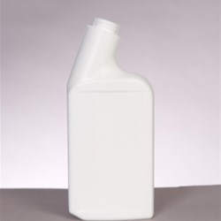 500 ml HDPE Asymmetrical Oblong, 24Child Resistant, Offset Neck