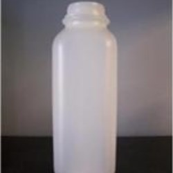 16 oz HDPE Straight Sided, Square, 38-400, Label Indent ,