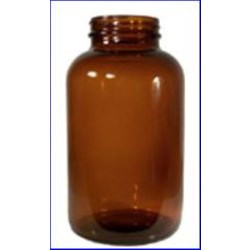 625 cc Glass Packer, Round, Amber, 53-400