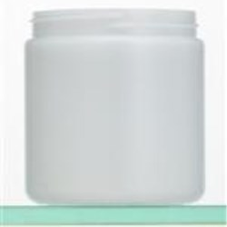 8 oz HDPE Jar, Round, 70-400, Straight Sided
