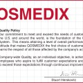 Qosmedix quality policy