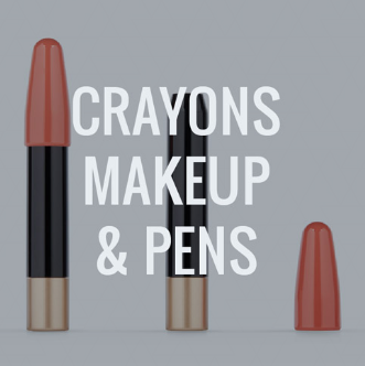 Crayons, Make up sticks and pens