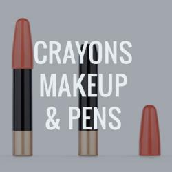 Crayons, Make up sticks and pens