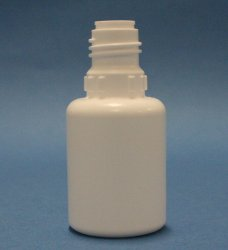 15ml white LDPE bottle